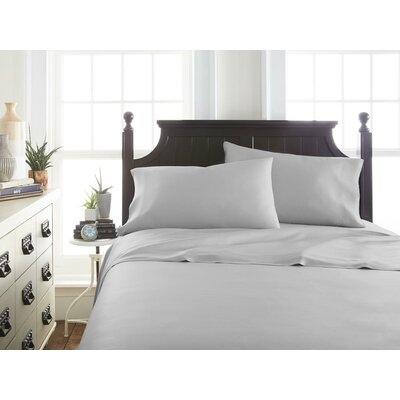 Villagomez Rayon from Bamboo Sheet Set Size: Twin, Color: Light Gray