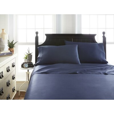 Villagomez Rayon from Bamboo Sheet Set Size: California King, Color: Navy