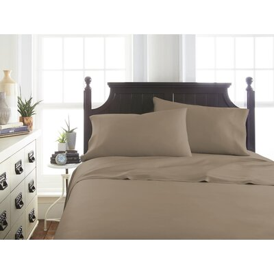 Villagomez Rayon from Bamboo Sheet Set Size: Twin, Color: Taupe
