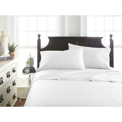 Villagomez Rayon from Bamboo Sheet Set Size: Queen, Color: White