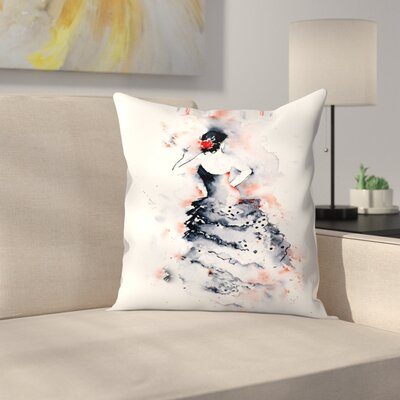 Flamenco Throw Pillow Size: 14 x 14