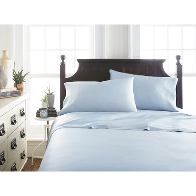 Villagomez Rayon from Bamboo Sheet Set Size: King, Color: Light Blue