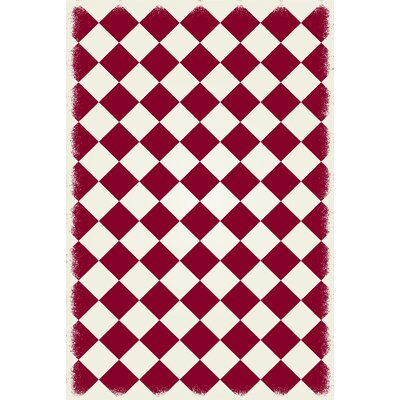 Jonesberg Diamond European Red/White Indoor/Outdoor Area Rug Size: Rectangle 4 x 6