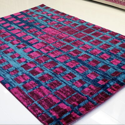Nehemiah Square Turquoise/Pink Area Rug Rug Size: Rectangle 710 x 106