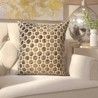 Carlie Velvet Throw Pillow Color: Brown, Size: 20 H x 20 W