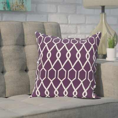 Bronstein Geometric Print Throw Pillow Size: 16 H x 16 W x 1 D, Color: Grape