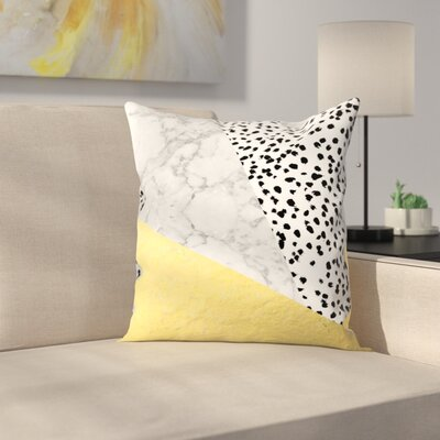 Charlotte Winter Carina Throw Pillow Size: 18 x 18