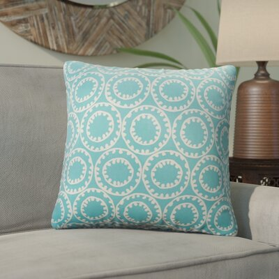 Malbrough Outdoor Throw Pillow Color: Aqua