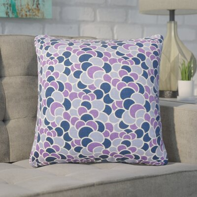 Basinger Geometric Cotton Throw Pillow Color: Plum