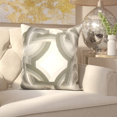 Westerlo 100% Cotton Throw Pillow Color: Dove, Size: 18 H x 18 W