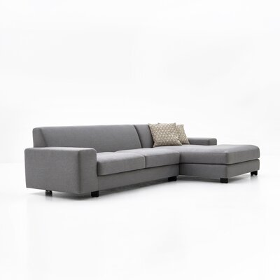 Priestley Sectional Upholstery: Dark Gray, Orientation: Right Hand Facing