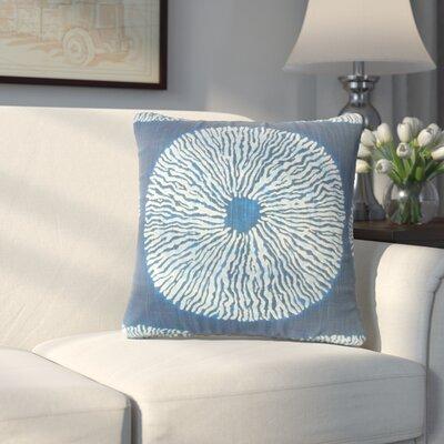 Paladin Ikat Cotton Throw Pillow Color: Indigo