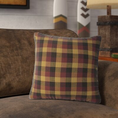 Drancy Check 100% Cotton Throw Pillow
