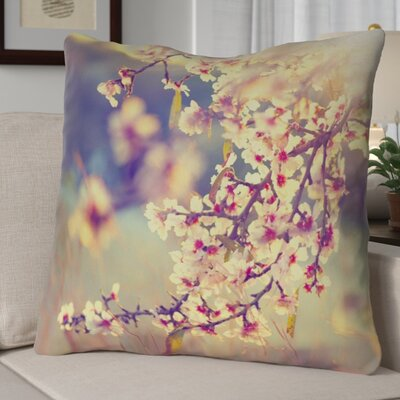 Ghost Train Cherry Blossoms Euro Pillow
