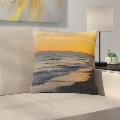 Philip Brown Sunset Beach Outdoor Throw Pillow Size: 16 H x 16 W x 5 D