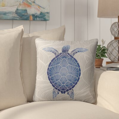 Chandeleur Indoor/Outdoor Throw Pillow Color: Blue/ Grey, Size: 16 x 16