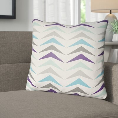 Wakefield Contemporary Square Throw Pillow Size: 22 H �x 22 W x 5 D, Color: Blue/Purple/Grey