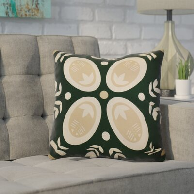 Mazee Decorative Holiday Geometric Print Outdoor Throw Pillow Size: 18 H x 18 W, Color: Dark Green