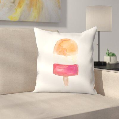 Jetty Printables Watercolor Popsicle 3 Throw Pillow Size: 16 x 16
