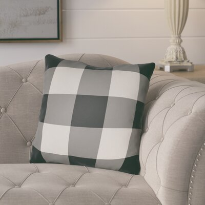 Comeaux Outdoor Throw Pillow Size: 18 H x 18 W x 4 D, Color: Black / Neutral