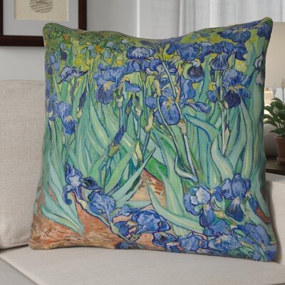 Morley Irises 100% Cotton Pillow Cover Color: Green/Blue/Brown