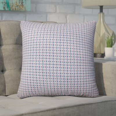 Wojciechowski Plaid Cotton Throw Pillow Color: Blueberry
