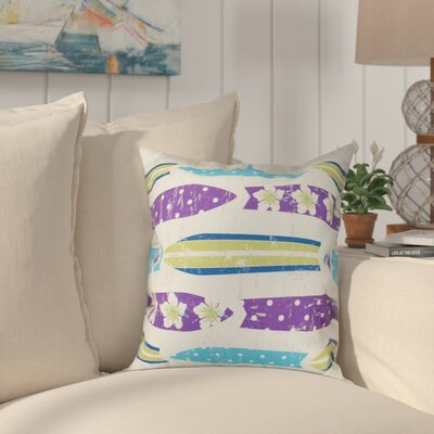 Golden Beach Dean Geometric Outdoor Throw Pillow Size: 18 H x 18 W, Color: Purple