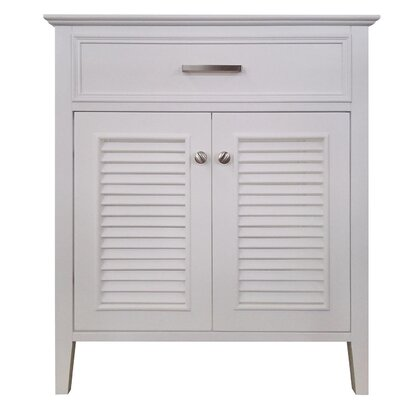 Kensington 31 Single Bathroom Vanity Base Base Finish: White