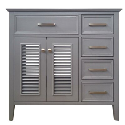 Kensington Left Offset 37 Single Bathroom Vanity Base Base Finish: Gray