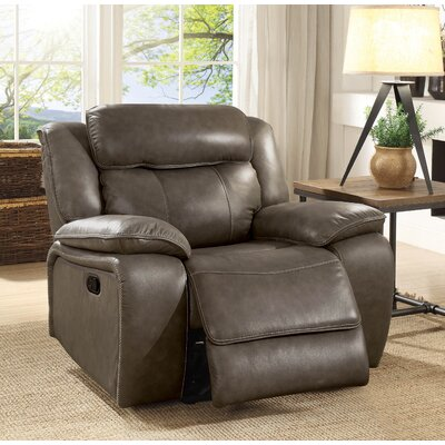 Rangel Leather Manual Glider Recliner
