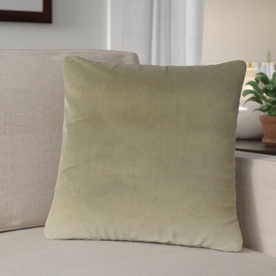 Theriault Solid Cotton Throw Pillow Color: Oak