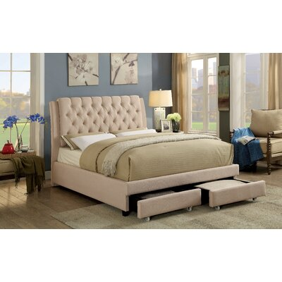Kapono Traditional Upholstered Panel Bed