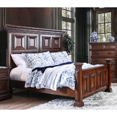 Encina Traditional Upholstered Panel Bed