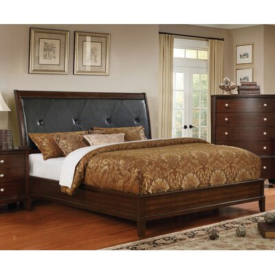 Hornback Traditional Upholstered Panel Bed