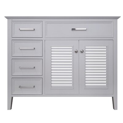 Kensington Right Offset 43 Single Bathroom Vanity Base Base Finish: White