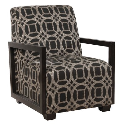 Reeves Armchair Upholstery: Black/Gray