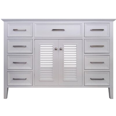 Kensington 49 Single Bathroom Vanity Base Base Finish: White