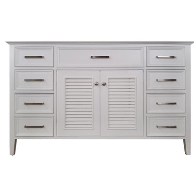 Kensington 55 Single Bathroom Vanity Base Base Finish: White