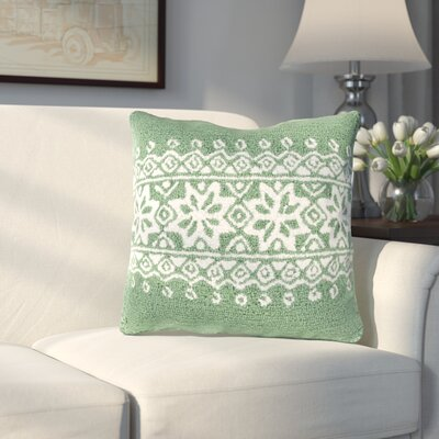 Bridgetown Throw Pillow Fill Type: Polyester, Color: Green