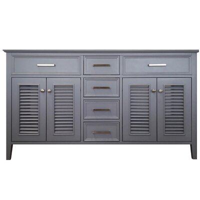 Kensington 61 Double Bathroom Vanity Base Base Finish: Gray