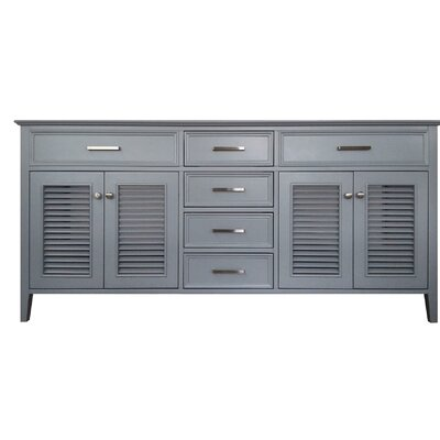 Kensington 73 Double Bathroom Vanity Base Base Finish: Gray