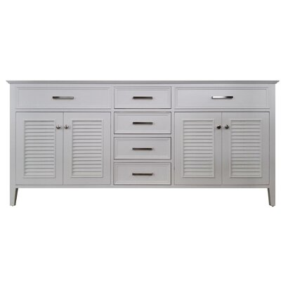 Kensington 73 Double Bathroom Vanity Base Base Finish: White