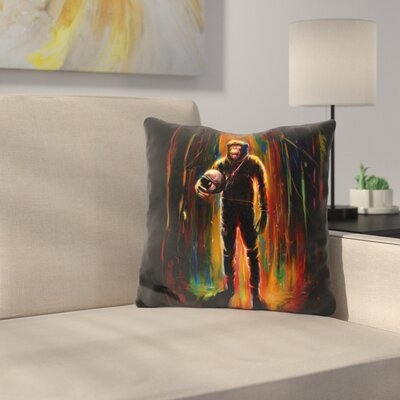 Commander Chimp Throw Pillow
