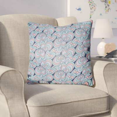 Collie Blue Pink Coastal Throw Pillow Size: 20 H x 20 W x 4 D