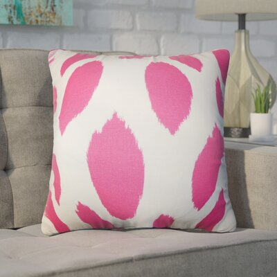 Witten Ikat Cotton Throw Pillow Color: Pink