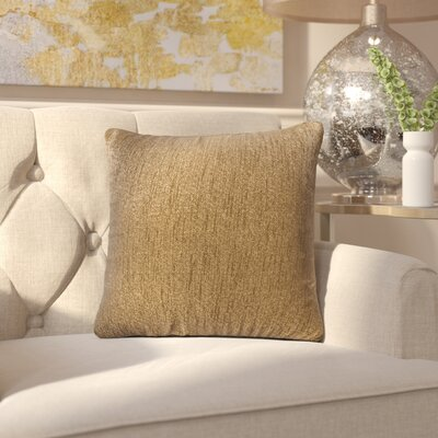 Alas Throw Pillow Size: 20 H x 20 W x 4 D, Color: Chocolate