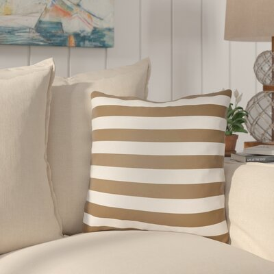 Ghent Stripe Indoor/Outdoor Throw Pillow Size: 20 H x 20 W x 3.5 D, Color: Brown
