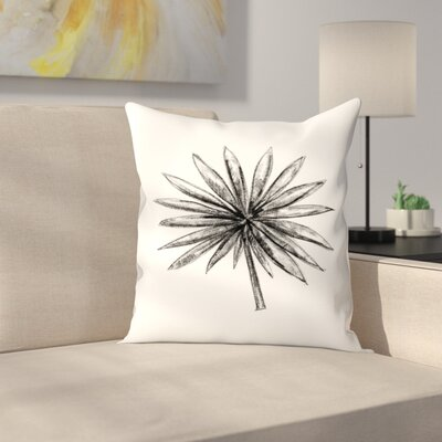 Jetty Printables Palm Branches Throw Pillow Size: 18 x 18