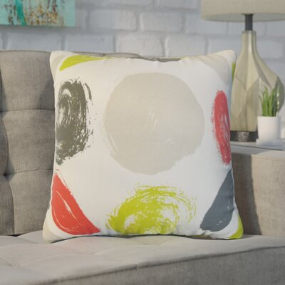 Zander Geometric Cotton Throw Pillow Color: Tan