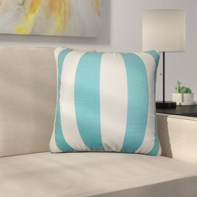 Strauser Stripes Cotton Throw Pillow Color: Light Blue